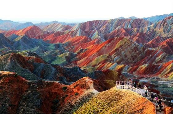 Zhangye Zemaljski reljef provincija Gansu Kina