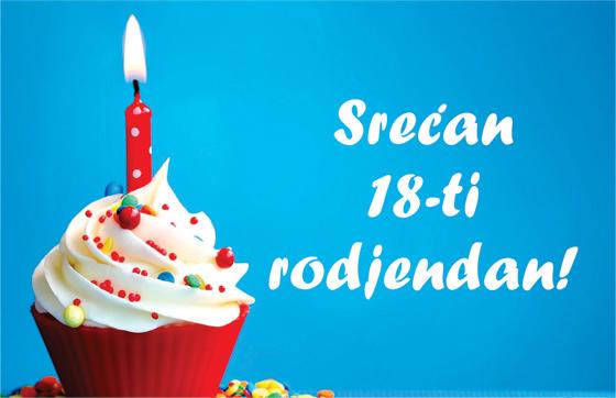čestitke za 18 rođendan SMS poruke, čestitke za 18 ti rodjendan (punoletstvo), drugu  čestitke za 18 rođendan